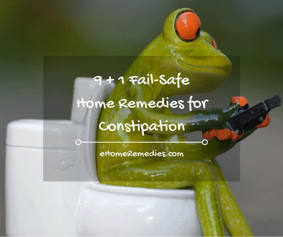 9 + 1 Fail-Safe Home Remedies for Constipation
