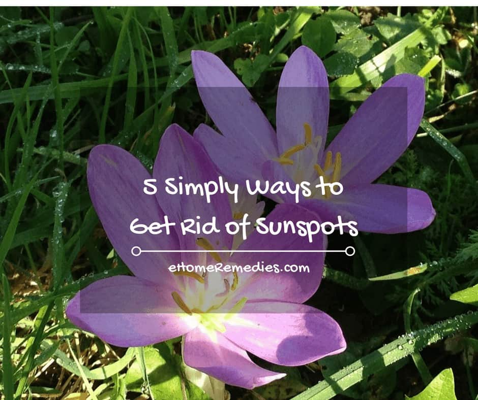 How to Get Rid of Sunspots