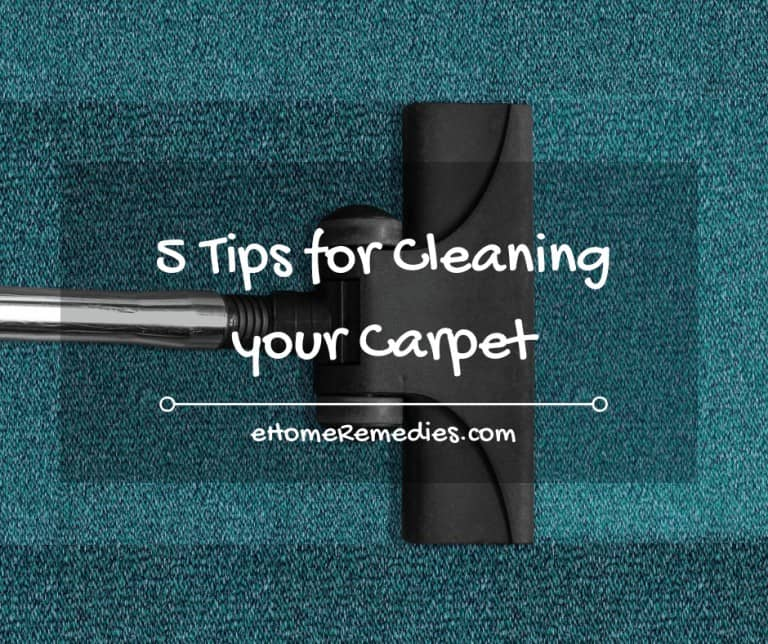 5 Tips for Cleaning your Carpet